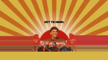 Communism parody politics barack obama wallpaper