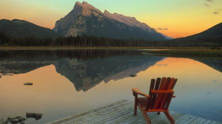 Landscapes canada escape lakes banff national park mount wallpaper