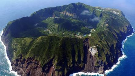 Summer shore tropical heaven islands cosy aogashima Wallpaper