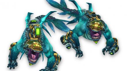 Video games blue monsters white background wildstar wallpaper