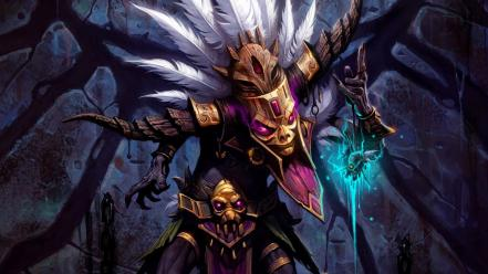 Video games diablo fantasy art witch doctor Wallpaper