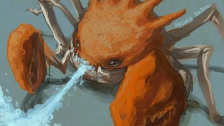 Water pokemon digital art artwork crabs kingler wallpaper