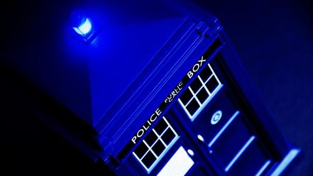Blue tardis science fiction doctor who police box wallpaper