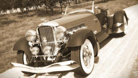 Cars digital art duesenberg 3d wallpaper