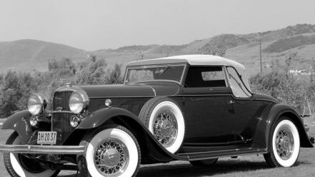 Cars grayscale vintage wallpaper