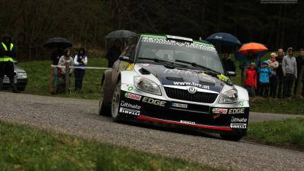 Cars rally car automobiles skoda fabia s2000 wallpaper