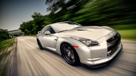 Cars roads speed nissan gt-r wallpaper