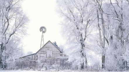 Frosted Farmland wallpaper