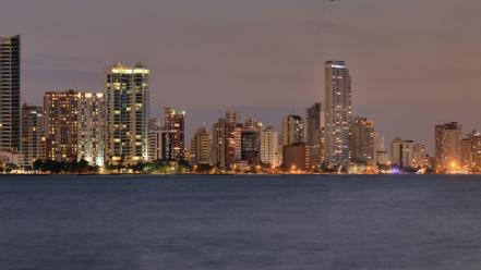Landscapes skylines colombia wallpaper