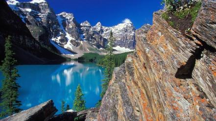 Moraine Lake And Valley wallpaper