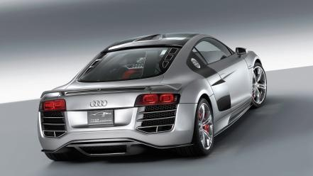 R8 V12 Tdi Rear Wallpaper