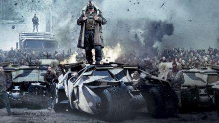 Bane batmobile the dark knight rises cities wallpaper