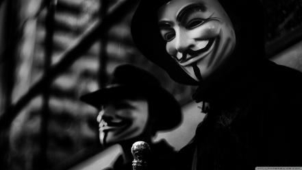 Black and white anonymous hackers gay foks wallpaper