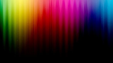 Green abstract blue red spectrum rainbows lines colors wallpaper