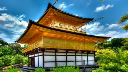 Japan kyoto hdr photography golden pavilon kinkakuji wallpaper