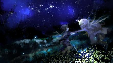 Wings vocaloid night stars megpoid gumi angel wallpaper