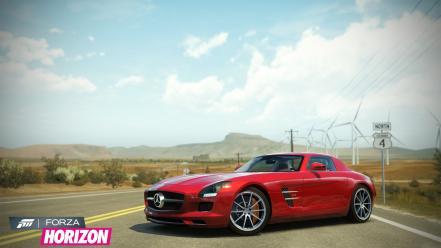 Xbox 360 mercedes-benz sls amg forza horizon wallpaper