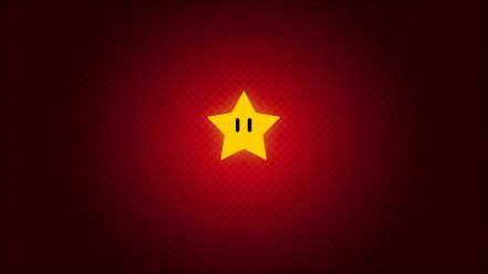 Abstract video games red stars mario wallpaper