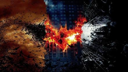 Begins Hollywood The Dark Knight Rises Logo Wallpaper