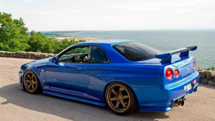 Cars tuning sports nissan skyline r34 gt-r Wallpaper