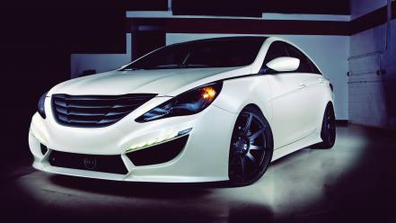 Dark cars vehicles hyundai sonata modified wallpaper