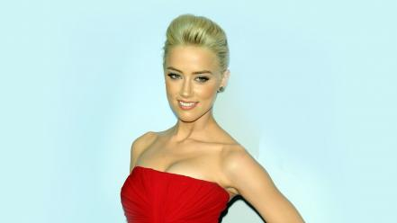 Fashion usa amber heard dressed bare shoulders wallpaper