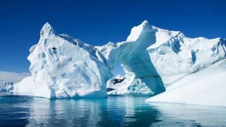 Landscapes nature icebergs Wallpaper
