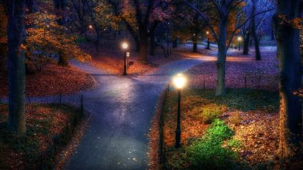 New york city central park roads parks wallpaper