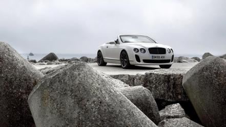 White cars sports britain convertible bentley continental wallpaper