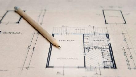 Architecture blueprints dutch pencils wallpaper