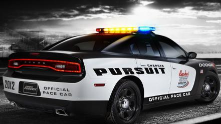Cars police nascar dodge charger pace car wallpaper