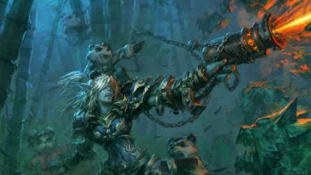 Cataclysm mists pandaria yaorenwo game troll jade wallpaper