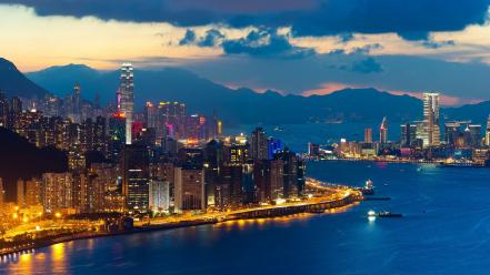 Cityscapes architecture hong kong town skyscrapers cities wallpaper