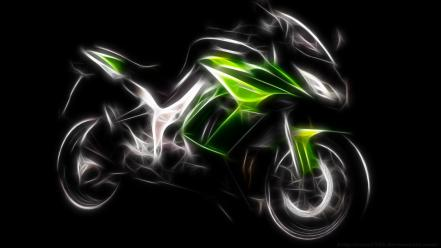 Green motorbikes motorcycles Wallpaper