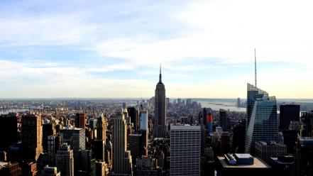 New york city empire state building skyscapes Wallpaper