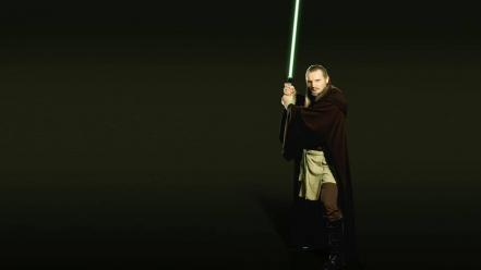 Wars: the phantom menace photomanipulation qui-gon jinn wallpaper