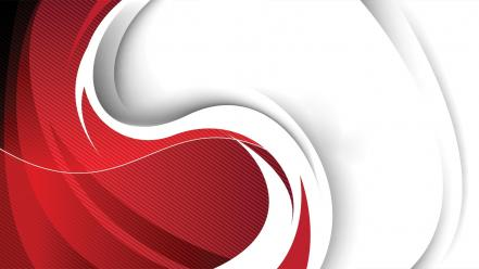 Abstract red vector illustrations swirls curvilinear design snapdragon wallpaper
