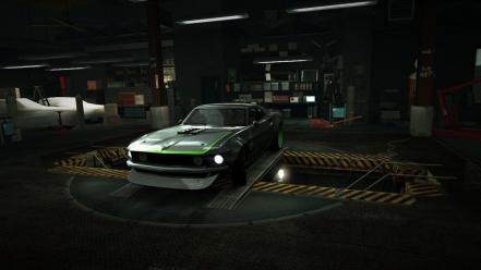 For speed ford mustang world garage nfs wallpaper