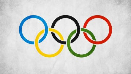 Grunge rings sign olympic wallpaper