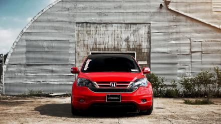 Red tuning honda cr vossen wallpaper