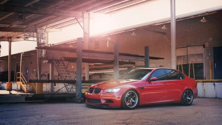Red wheels bmw m3 e90 wallpaper