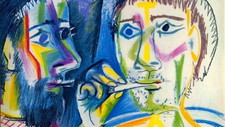 Spanish artwork cigarettes pablo picasso traditional art wallpaper