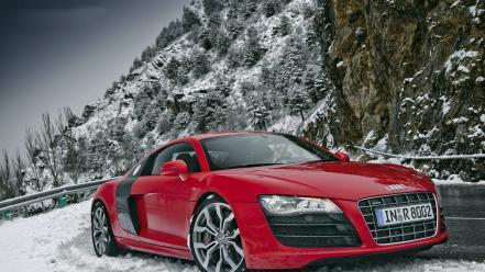 Winter cars audi r8 Wallpaper
