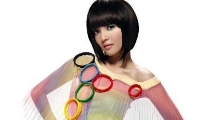Hair asians olympics angela black straight bangs Wallpaper