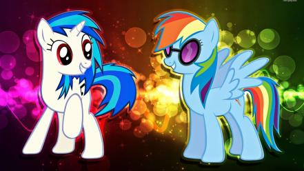 My little pony rainbow dash vinyl scratch pon wallpaper