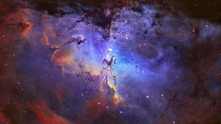 Outer space eagle nebula Wallpaper