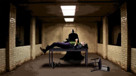 Batman the joker prison interrogation dark knight Wallpaper
