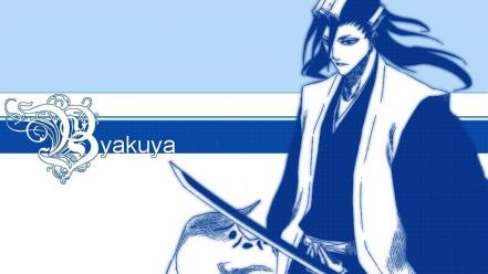 Bleach kuchiki byakuya monochrome wallpaper