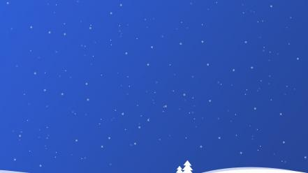 Blue snow wallpaper