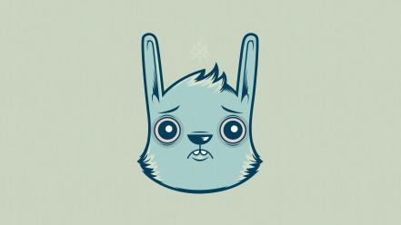 Bunnies blue wallpaper